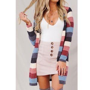 Striped Multi Cardigan